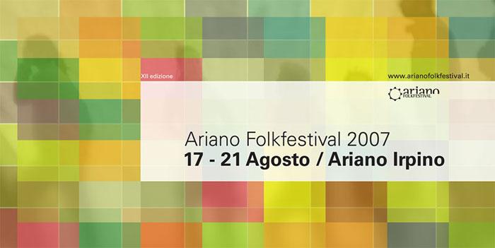 Ariano Folk Festival 2007. Poster mockup.