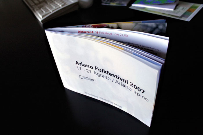 Ariano Folk Festival 2007. Booklet.