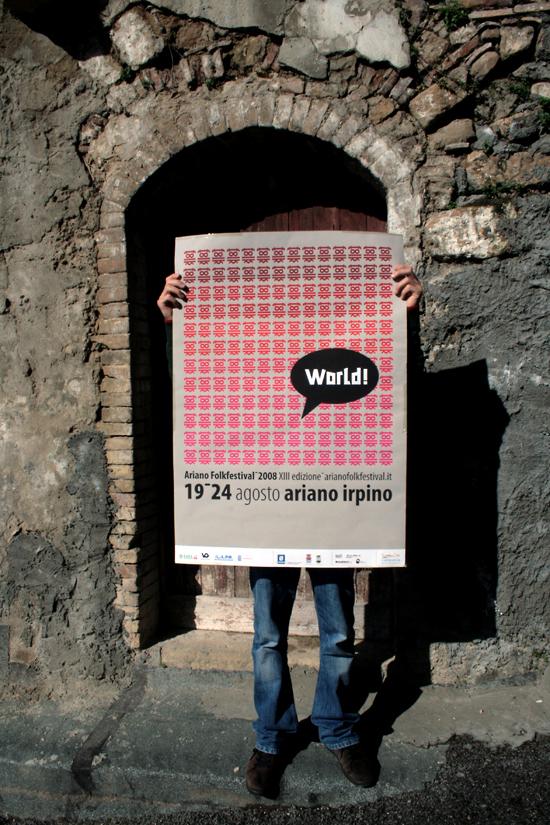 Ariano Folk Festival 2008. Poster
