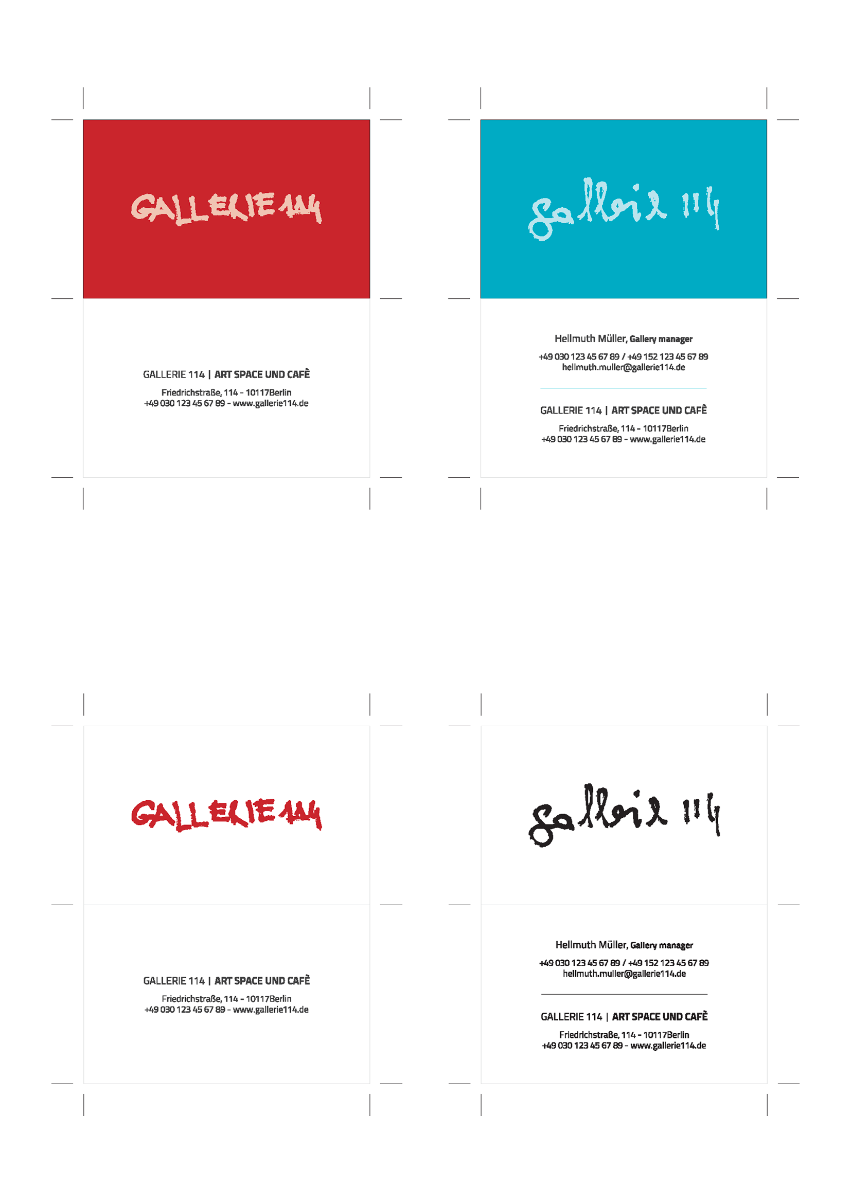 Gallerie 114. Business card mockup