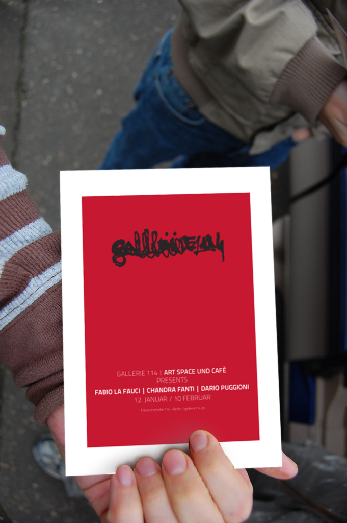 Gallerie 114. Flyer mockup