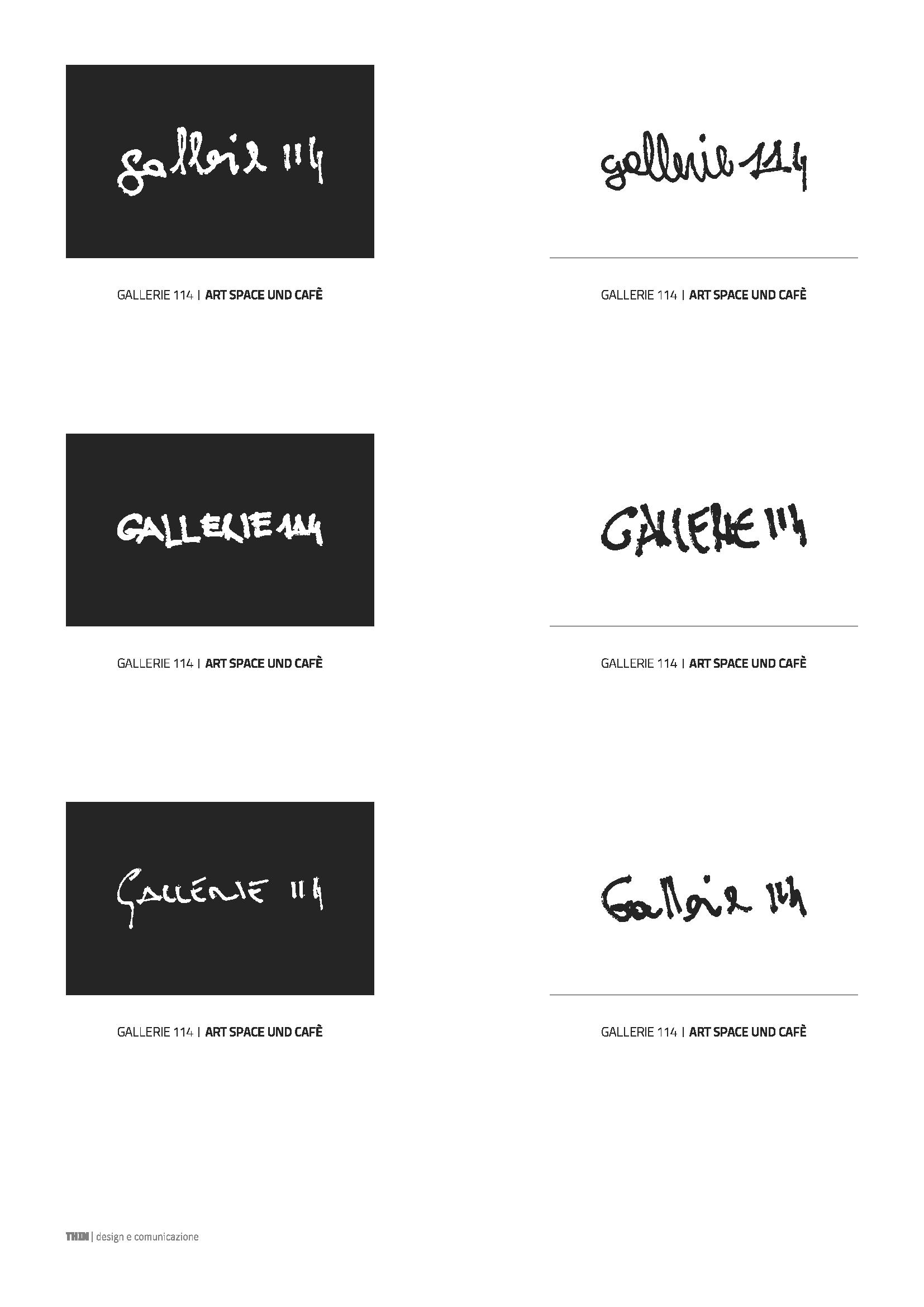Gallerie 114. Logo usage