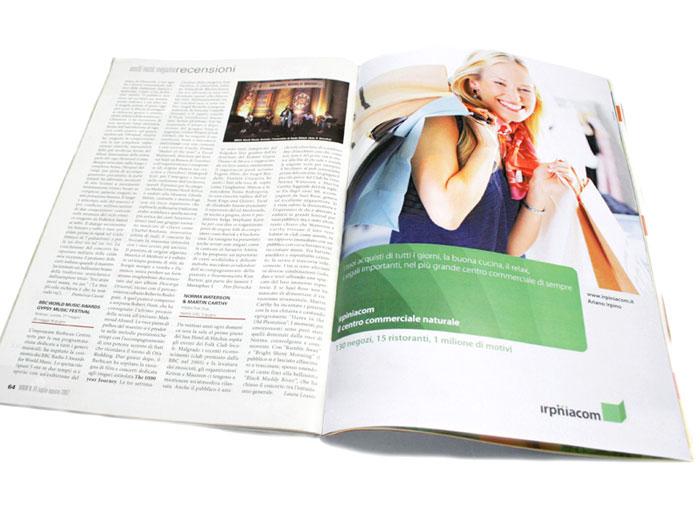 Irpiniacom. Magazine advertising page.