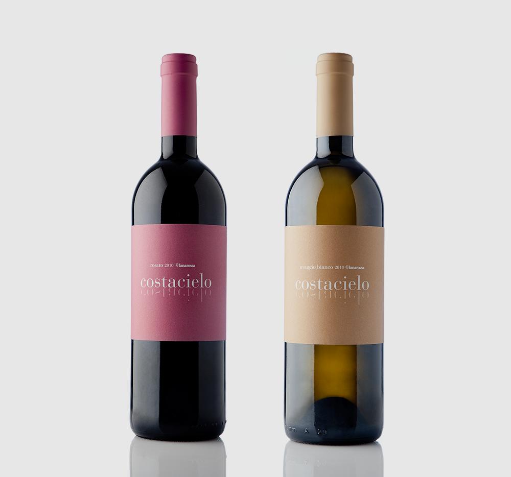 Lunarossa. Wine bottle design.