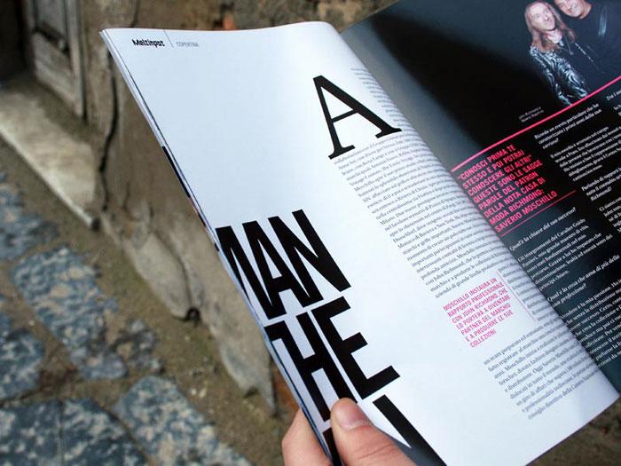 Meltinpot magazine. Pages layout.
