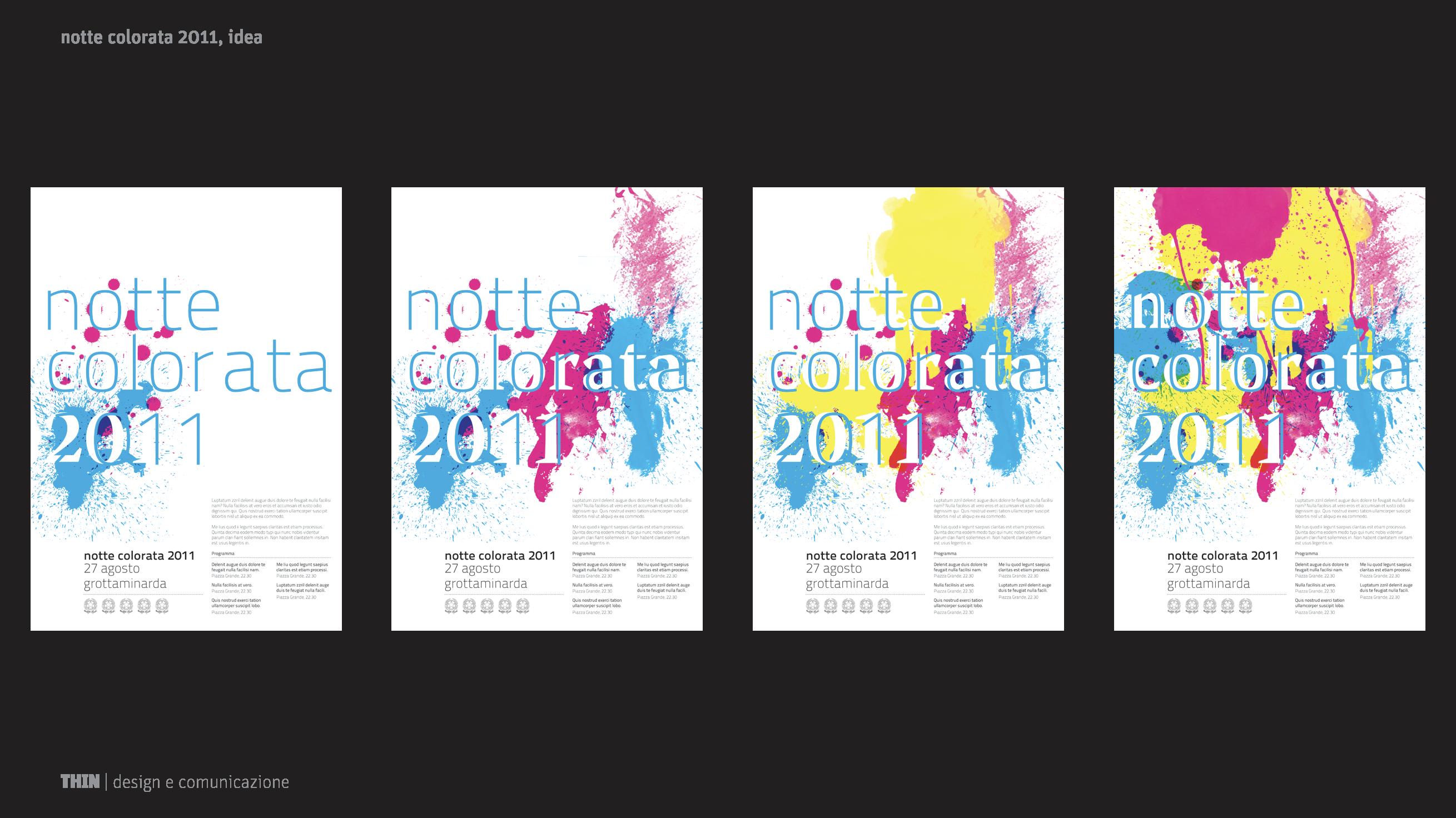 Notte colorata 2011. Poster design.
