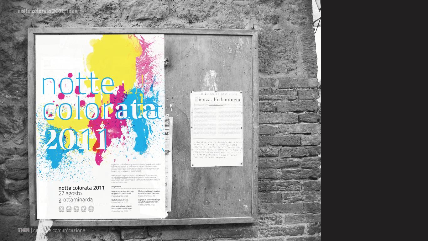 Notte colorata 2011. Poster mockup.