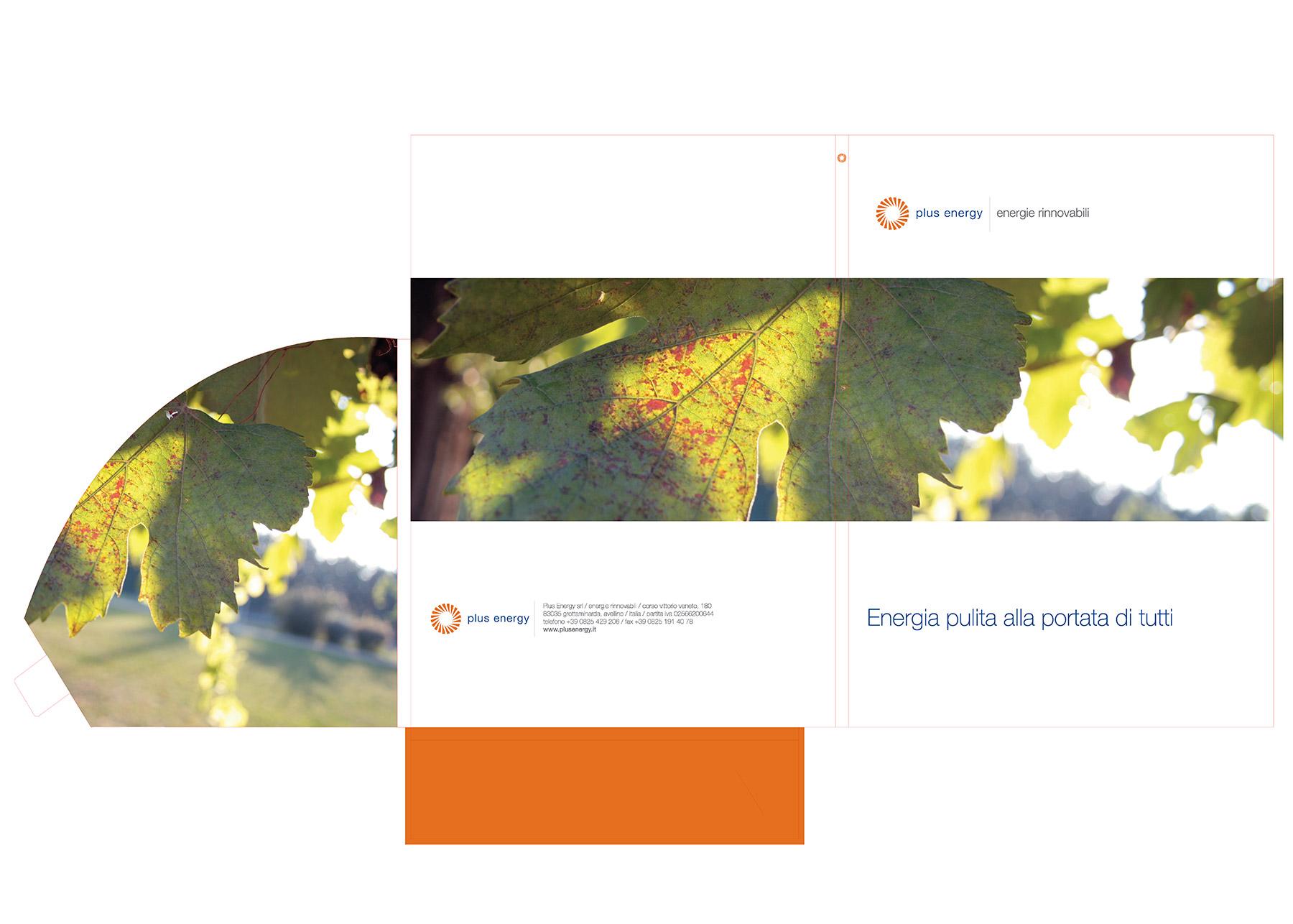 Plusenergy. Branded folder mockup.